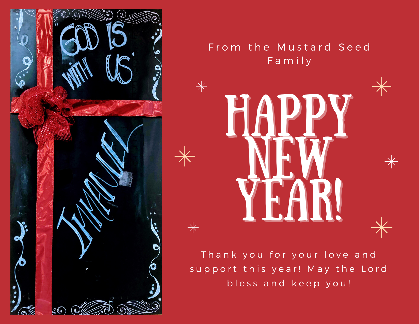Happy New Year from the Mustard Seed Cafe!